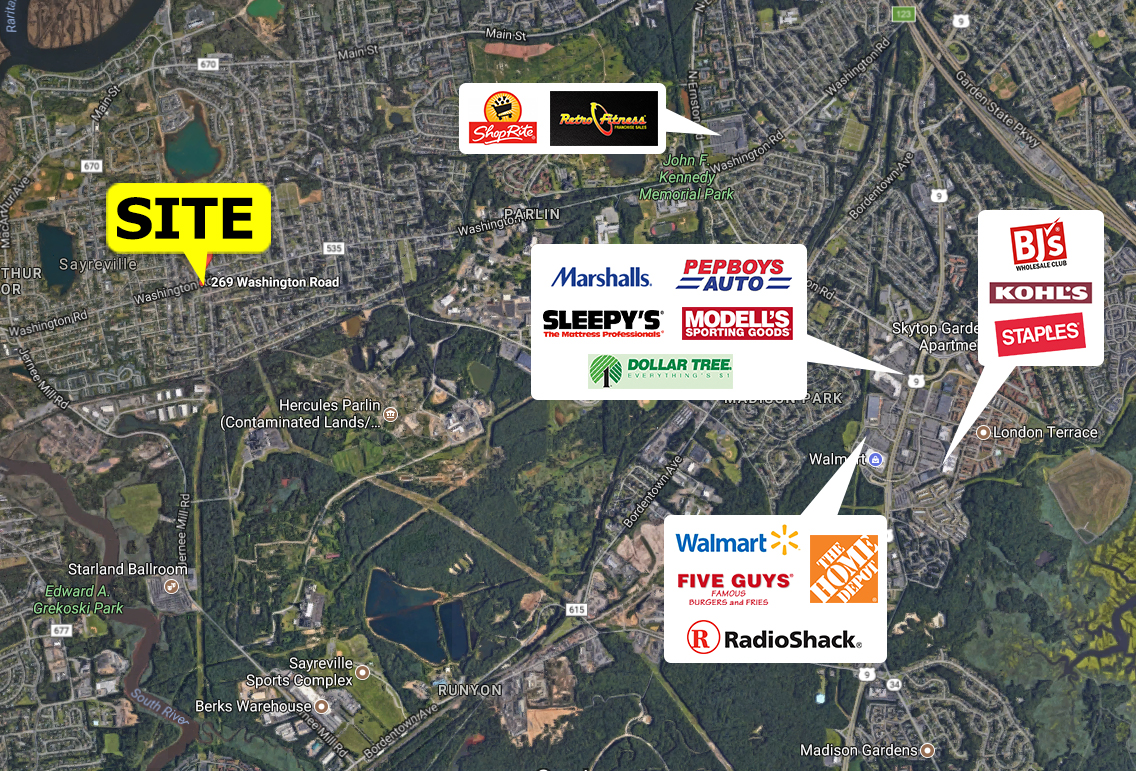 Sayreville center the goldstein group nj and ny retail - Garden state parkway gas stations ...